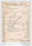 38 1656 DECINES ISERE 1931 Ether Cloroforme Ets GIGNOUX FRERES Et BARBEZAT - Eau Oxygenee GIFRER Plantes Drogues - France