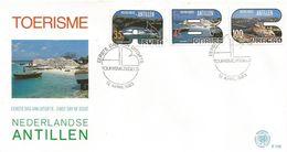 Netherlands Antilles 1983 Aruba Bonaire Curacao Tourism Willemstad UNESCO World Heritage Site FDC Cover - Vakantie & Toerisme