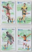 CHINA 2002 FOOTBALL WORLD CUP FULL SET OF 4 USED PHONE CARDS - Sport