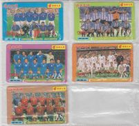 CHINA 2002 FOOTBALL WORLD CUP ITALY FRANCE ARGENTINA ENGLAND PORTUGAL FULL SET OF 5 USED PHONE CARDS - Sport
