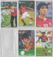 CHINA 2001 FOOTBALL CHINESE PLAYER FULL SET OF 5 USED PHONE CARDS - Sport