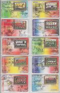 CHINA 2002 FOOTBALL WORLD CUP FULL SET OF 16 USED PHONE CARDS - Sport