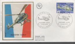 FDC -  Enveloppe 1er Jour GAZELLE - 31 MAI 1975 - LE BOURGET - 1970-1979