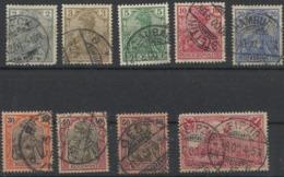 Allemagne N° 51 à 55 + 57 à 59 + 61 Oblitérés De 1900 - Germany