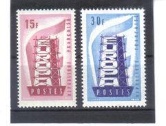 BAU833 EURORA-CEPT 1956 FRANKREICH  MICHL  1104/04 ** Postfrisch SIEHE ABBILDUNG - Europa-CEPT