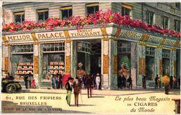 1 Postkaart MELIO PALACE Ernest TINCHANT - RECLAME Pub - Fabuleux Magasin à Bruxelles - Chromo Litho VG - Around Cigars