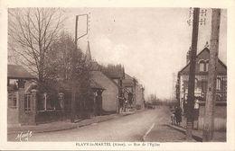 CPA Flavy-le-Martel Rue De L'Eglise - Francia