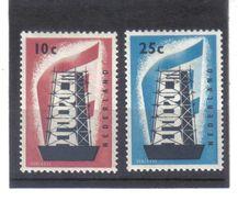 BAU831 EURORA-CEPT 1956 NIEDERLANDE  MICHL  683/84 ** Postfrisch SIEHE ABBILDUNG - Europa-CEPT