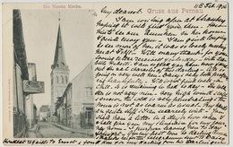 Gruss Aus Pernau Die Nicolai Kirche  Edit Granbergs Stockholm Used 1904 Russia Defect Up Left Corner - Estonie