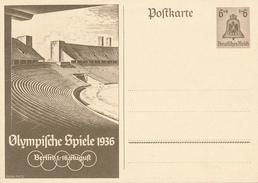 DR - 1936 , Ganzsache Zur Olympiade 1936 In Berlin - Germany