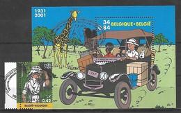 OCB Nr 3048 + 3049 BL93 Strip BD Comic Cartoon Tintin Kuifje Tim Hergé - FDCancelling - Belgique