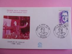 FRANCE FDC 1990 YVERT 2634 CHARLES DE GAULLE - 1990-1999