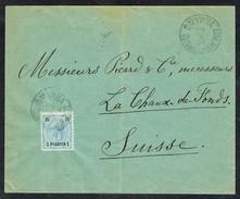 MM N° ? / Y&T N° 23 (LEVANT Aut) - Brief - SMYRNA (Turkey) Nach CHAUX-DE-FONDS (CH) - 25/4/1896. - Levant Autrichien