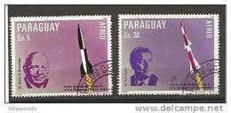 Paraguay - Serie Completa Usata Di Posta Aerea: Pionieri Dello Spazio - Space