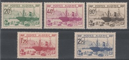 French Algeria, 1939 New York World's Fair, 1939, MLH VF  A Complete Set Of Five - Algérie (1924-1962)