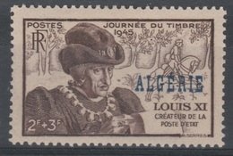 French Algeria, Stamp Day, Louis XI Of France 1945, MH VF - Algérie (1924-1962)