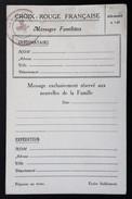 Carte Postale CROIX-ROUGE FRANCAISE MESSAGES FAMILIAUX Cachet THOUARS - Guerra De 1939-45