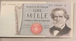 """Italia - Banconota Non Circolata FdS Da 1000£ """"Verdi Secondo Tipo"""" - 1975 - [ 2] 1946-… : République"""
