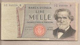 "Italia - Banconota Circolata Da 1000£ ""Verdi Secondo Tipo"" P-101d - 1975 - [ 2] 1946-… : République"