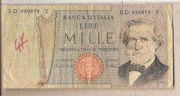 "Italia - Banconota Circolata Da 1000£ ""Verdi Secondo Tipo"" - 1981 - [ 2] 1946-… : Républic"