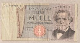 "Italia - Banconota Circolata Da 1000£ ""Verdi Secondo Tipo"" - 1969 - [ 2] 1946-… : Républic"