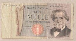 "Italia - Banconota Circolata Da 1000£ ""Verdi Secondo Tipo"" P-101a - 1969 - [ 2] 1946-… : République"