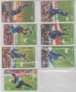 CHINA 2001 FOOTBALL 7 USED PHONE CARDS - Sport