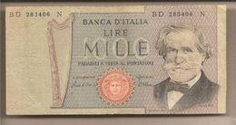 "Italia - Banconota Circolata Da 1000£ ""Verdi Secondo Tipo"" - 1980 - [ 2] 1946-… : République"