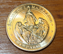 """Jeton """"Eglise De La Madeleine"""" Sainte Marie-Madeleine - Paris - Monnaie De Paris - S. Mary Magdalene Token - Ange - Monnaie De Paris"""