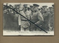 CPA Rétrécit - Les Américains En France - Le Général Pershing Et Le Général Peltier (soldat , Militaire ) - Militaria