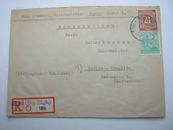 1947 , EGELN , Einschreibbrief - Sowjetische Zone (SBZ)