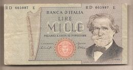 "Italia - Banconota Circolata Da 1000£ ""Verdi Secondo Tipo"" - 1979 - [ 2] 1946-… : République"