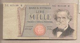"Italia - Banconota Circolata Da 1000£ ""Verdi Secondo Tipo"" - 1977 - [ 2] 1946-… : République"