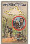 REPUBLIQUE CENTRAFRICAINE )) OUBANGUI CHARI    Illustration, Contour Géographique   ** - Centrafricaine (République)