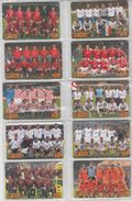 CHINA 2001 FOOTBALL WORLD CUP FULL SET OF 10 USED PHONE CARDS - Sport