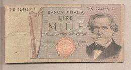 "Italia - Banconota Circolata Da 1000£ ""Verdi Secondo Tipo"" P-101b - 1971 - [ 2] 1946-… : République"