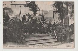 CPA BRASSAC Concours National De Pompes à Indendie 1er Septembre 1907 La Tribune Officielle Place De La Couarde - Brassac