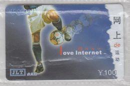 CHINA 2003 FOOTBALL I LOVE INTERNET USED PHONE CARD - Sport