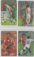 CHINA 2001 FOOTBALL FULL SET OF 4 USED PHONE CARDS - Sport
