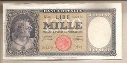 "Italia - Banconota Circolata Da 1000£ ""Italia Testina"" - 1947 - RARA - R3 - [ 2] 1946-… : Républic"