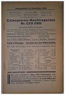 Coleopteren-Nachtragsliste Nr. CXX (120) - Livres, BD, Revues