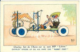 CHARLEY FAIT DE L AUTO SUR SA SANS HP LIEVRE CHARLEY SPEEDS UP ON HIS HARE CAR RABBIT FOOT - Mich