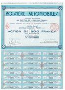 Action Ancienne - Sté Anonyme Boissière Automobiles - Titre De 1926 - Automobile