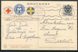 1944 Sweden Svenska Roda Korset, Red Cross Kronprinsessan Margareta Postcard Orebro - Covers & Documents