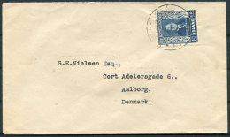 1952 Iceland President Bjornsson 1.25ore Cover - Aalborg, Denmark - 1944-... Republic