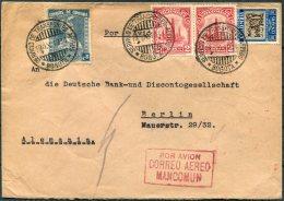 1934 Colombia Bogota SCADTA Airmail Cover - Deutsche Bank Berlin Germany. Mancomun Por Avion Cachet. Barranquilla - Colombia