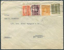 1928 Guatemala Alman=cen EL GLOBO Schwendener & Co. Overprints Opts Cover - Liestal, Switzerland - Guatemala