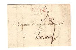 LAC écrit De Liège 23/5/1817 Griffe Luyk V.Louvain Port 3 PR5073 - 1815-1830 (Dutch Period)