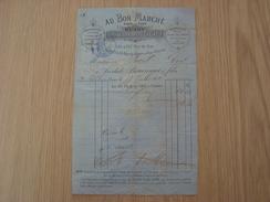 FACTURES AU BON MARCHE 1872 PARIS - France
