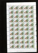 Belgie Buzin Vogels PRE825 Feuille Complète Datumstrook 6/8/1991 S2 Date RR (12.50€) Plaatnummer 2 Velnr 83882 - 1985-.. Oiseaux (Buzin)